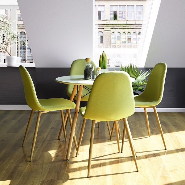 Carson Carrington Lafsviken Mid-Century Modern Yell Dining Chairs (Set of 4). Opens flyout.