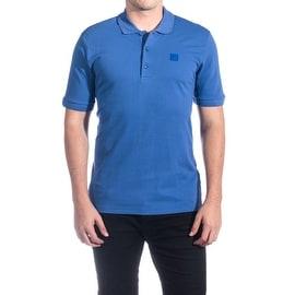 Versace Collection Men's Mesh Polo Shirt Royal Blue