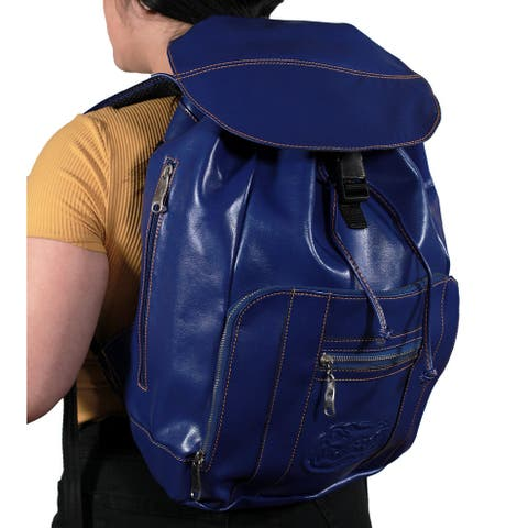 Florida Gators Blue Embossed Leather Backpack - 17.25 X 11 X 4.5 inches