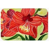 Carolines Treasures 6055LCB Flower - Amaryllis Glass Cutting Board - Large