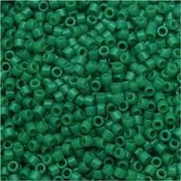 Miyuki Duracoat Delica, Japanese 11/0 Seed Beads, 7.2g Tube, Opaque Spruce Green DB2127