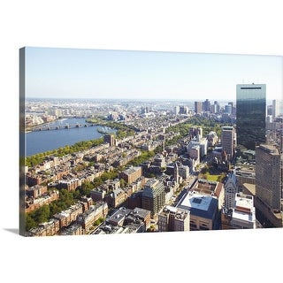 """Aerial view of Boston"" Canvas Wall Art"