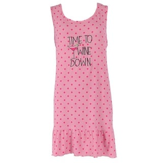 5 More Minutes Women's Embroidered Tank Night Shirt Gown
