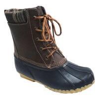 Sporto Women's Debunk Duck Boot Navy Leather/Textile