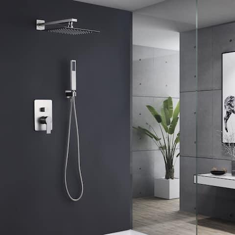 Shower System Chrome High Pressure Rainfall Shower Faucet