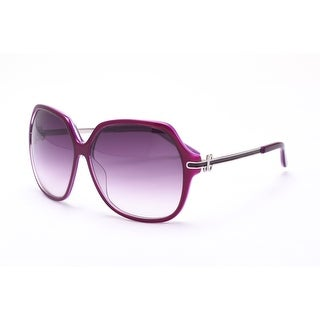 Just Cavalli Women's Circular Oversized Sunglasses Purple/Brown - Small