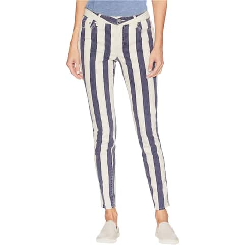 Vince Camuto Womens Striped Skinny Fit Jeans, Blue, 4