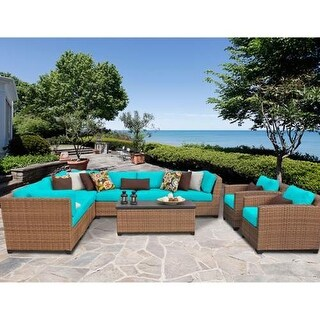 Miseno MPF-LGNA10A Southern California 10-Piece Aluminum Framed Outdoor Conversa (More options available)