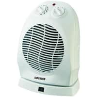 Optimus H-1382 Portable Oscillating Fan Heater With Thermostat