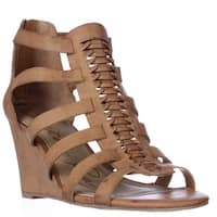 AR35 Amelia Wedge Strappy Sandals, Natural