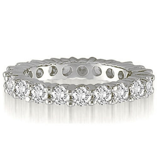 3.20 cttw. 14K White Gold Classic Round Cut Diamond Eternity Wedding Band
