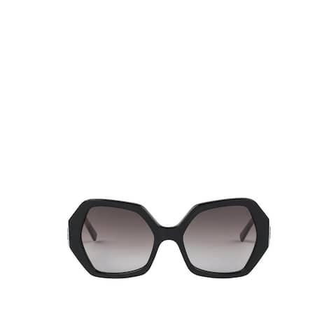 MCM Women's Black Acetate Oversized Sunglasses meg9s2i10bk001 - One Size