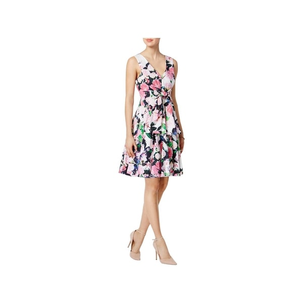 Betsey Johnson Womens Casual Dress Floral Print Bow
