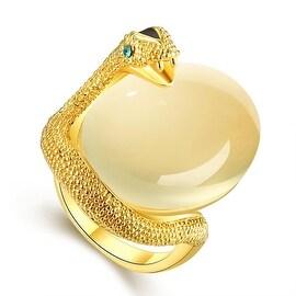 Gold Plated Snake Egg Inspired Ring