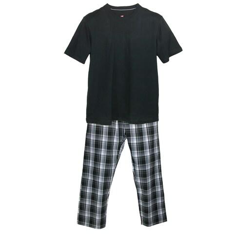 Hanes Men's Tee and Woven Sleep Pant Pajama Set