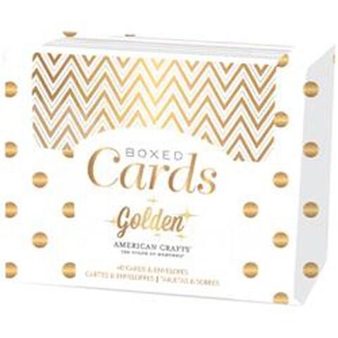 """Golden-Gold Foil - American Crafts A2 Cards & Envelopes (4.25""""X5.5"""") 40/Pkg"""