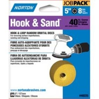 "Norton 07660749225 P40-Grit Hook & Sand Disc, 5"""