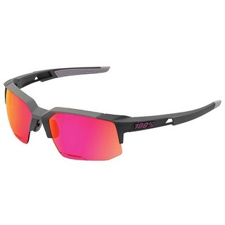 100% Speedcoupe Sunglasses - Graphite - Purple Multi Mirror - 61021-050-72