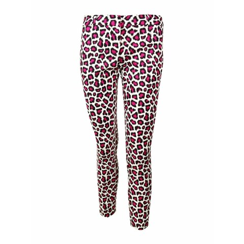 MICHAEL Michael Kors Women's Animal Print Dress Pants - Pink