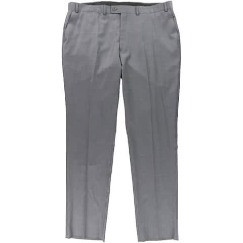 DKNY Mens Heathered Dress Pants Slacks, Grey, 48W x 42L - 48W x 42L