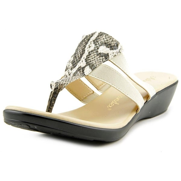 56196f553 Shop Athena Alexander Louisa Open Toe Synthetic Wedge Sandal - Free ...