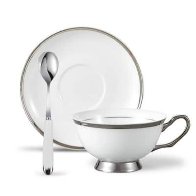 Panbado Bone China Tea Cup Set with Saucer Spoon