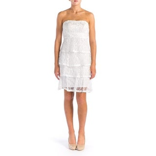Sue Wong Womens Prom Strapless Cocktail Dress