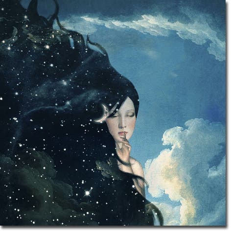 Lady Night by Paula Belle Flores Gallery Wrapped Canvas Giclee Art (30 in x 30 in)