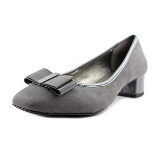 Bandolino Ximena Women Round Toe Canvas Gray Heels