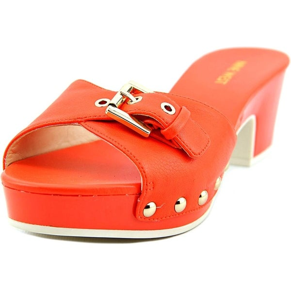 e4066a6fbe22b Shop Nine West Forchen Women Open Toe Synthetic Orange Slides Sandal ...