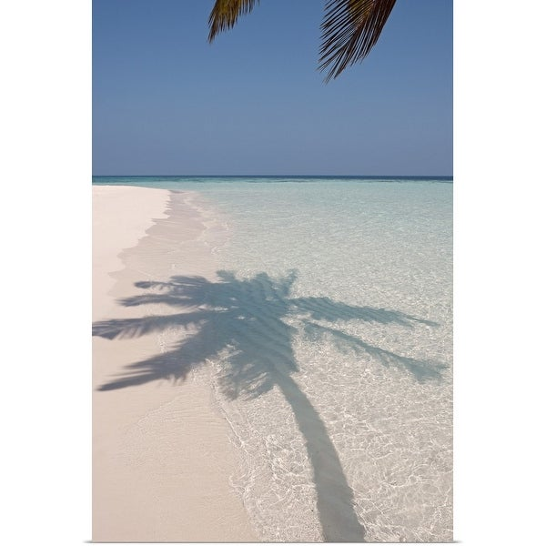 "Deserted Island Beach: Shop ""Shadow Of A Palm Tree On A Deserted Island Beach"
