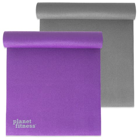 "Planet Fitness Yoga Exercise Mat 68"" 6mm Thick PVC w/ Microban® Tech Pilates - 68"" x 24"""