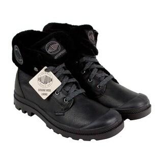 Palladium Baggy Lea Gusset S Mens Black Leather Casual Dress Boots Shoes
