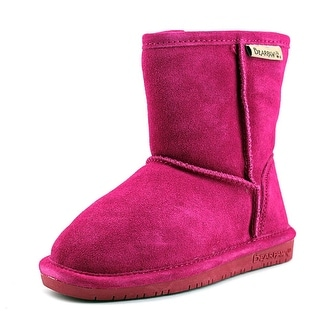 Bearpaw Emma Toddler Zipper Youth  Round Toe Suede Pink Winter Boot