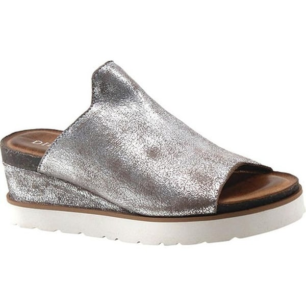 4413f1d180aadc Shop Diba True Women s Glad Lee Slide Sandal Pewter Metallic Suede - Free  Shipping Today - Overstock - 26410119