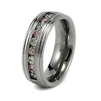 8mm Titanium Ring with CZ (Sizes 8-12)