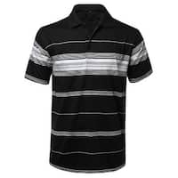 NE PEOPLE Mens Everyday Basic Stripe Polo T-shirts [NEMT1103]