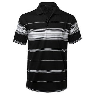 NE PEOPLE Mens Everyday Basic Stripe Polo T-shirts [NEMT1103] (5 options available)