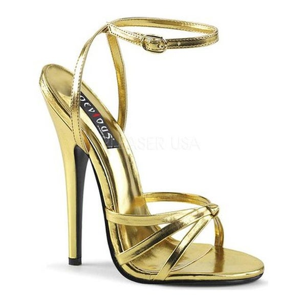 f545c4394223b Shop Devious Women s Domina 108 Ankle-Strap Sandal Gold Metallic  Polyurethane - Free Shipping On Orders Over  45 - Overstock.com - 16966068