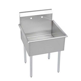 """Elkay B1C18X18X Budget 21"""" Single Basin Stainless Steel Utility Sink for Free Standing Installations"""