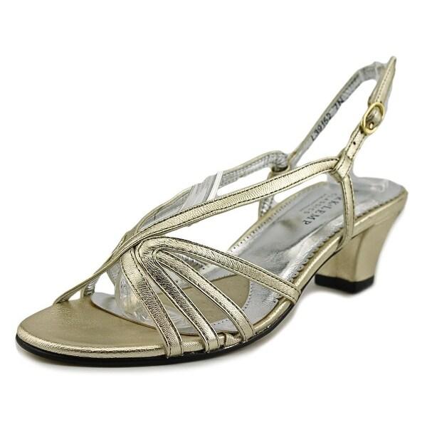 Mark Lemp By Walking Cradles Leash Women WW Open Toe Synthetic Gold Sandals