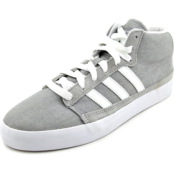 online store 73d2c 2edca Adidas Rayado Mid Round Toe Canvas Sneakers