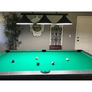 Sharp Shooter Black 3-light Billiard Light Fixture