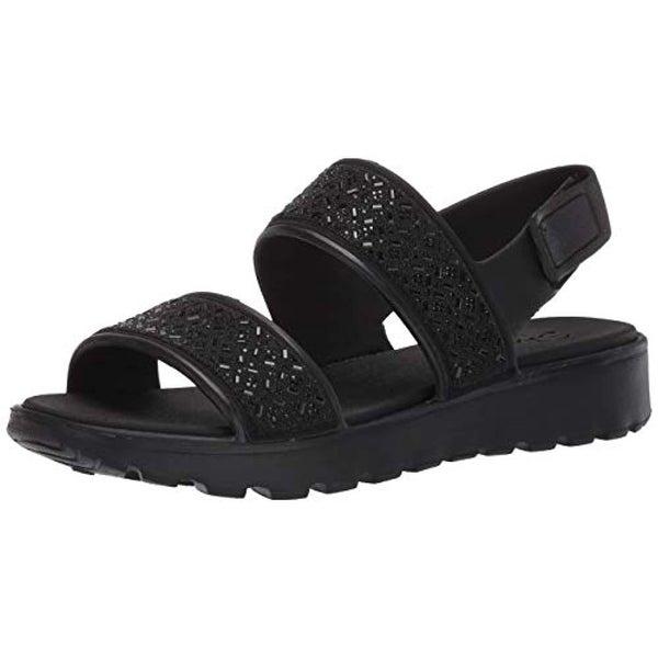 Luxe Foam Sandal, Black/Black