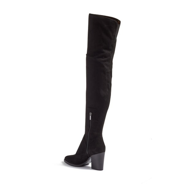 Marc Fisher Womens naylora Fabric Pointed Toe Over Knee Fashion Boots