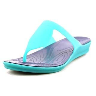 Crocs Rio Flip Women  Open Toe Synthetic Blue Thong Sandal
