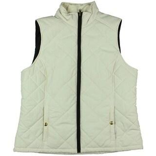 Ralph Lauren Womens Solid Zipper Outerwear Vest - M