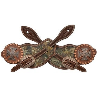 3D Western Spur Straps Leather Realtree Inlay L Brown