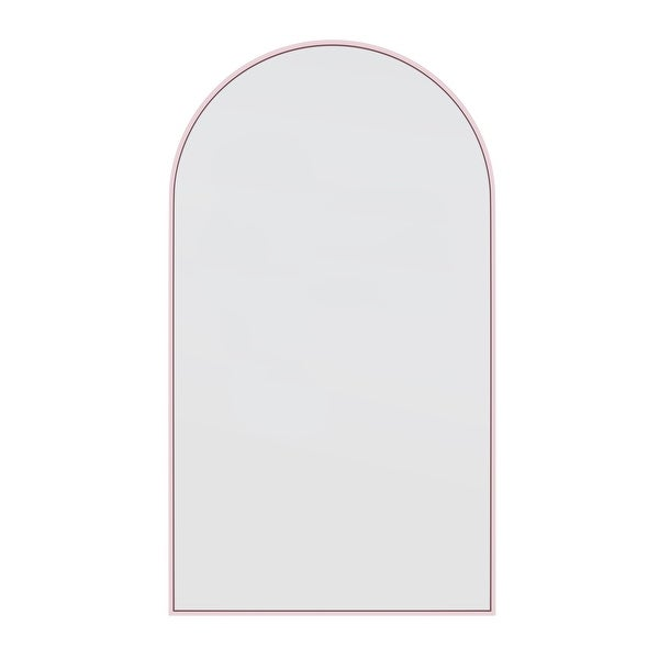 Glass Warehouse Large Arch Shape Stainless Steel Framed Mirror. Opens flyout.