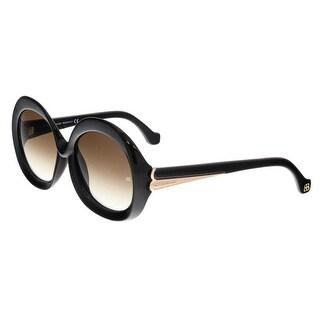 Balenciaga BA0007 01F Shiny Black Round Sunglasses
